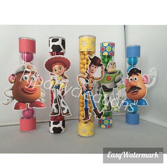 12 juguetes historia Candy tubo Favor por RJpartycreations en Etsy ... 15263297499