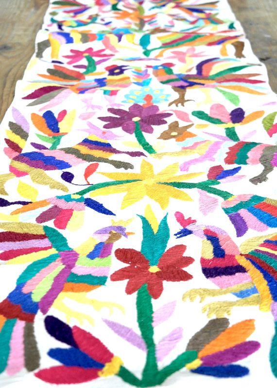 bordado otomí mexicana tela otomi otomí textil textil