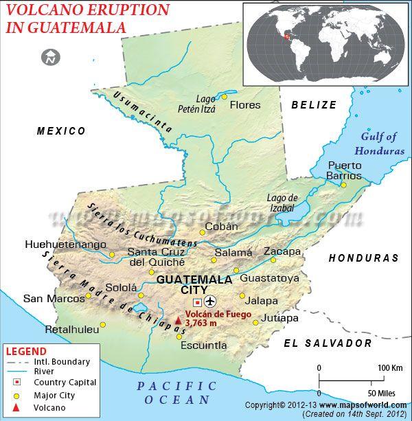 Fuego Volcano Eruption In Guatemala News Map