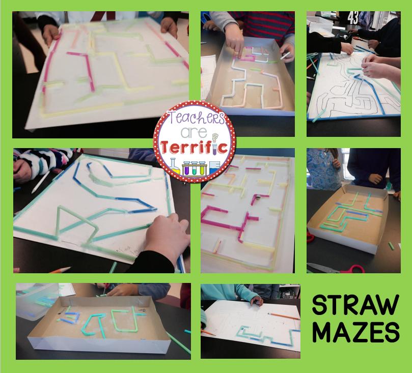 Quick Stem Challenge For Kids: STEM Quick Challenge Straw Maze