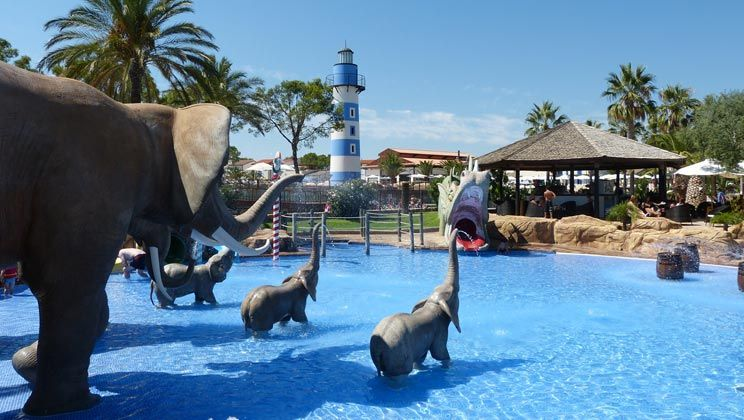 Cambrils Park In Salou, Costa Dorada Is A Campsite Designed For Fun With A  Spectacular Pool Complex That Offers Kids A Chance To See Dragons And  Elephants.