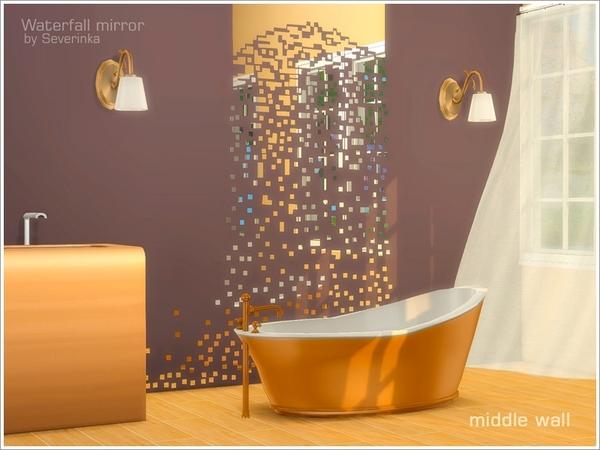 Severinka_'s Wall mirror Waterfall middle wall Mirror