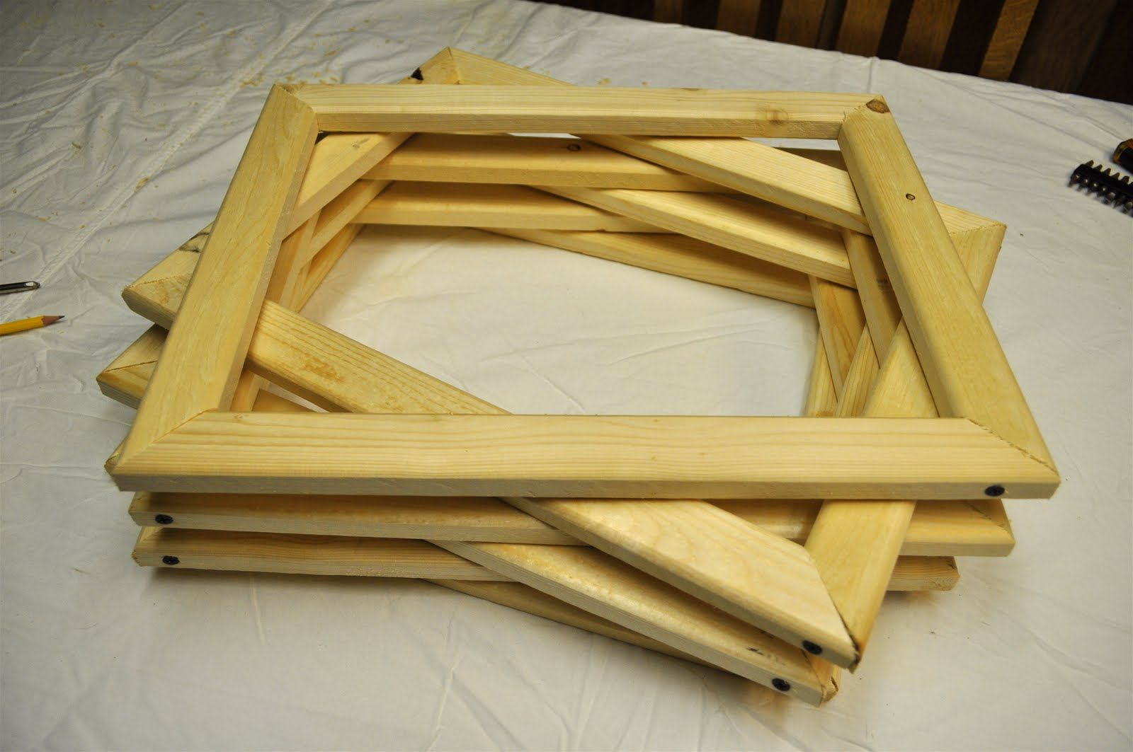 Today we built a few wooden frames for   Screen Printing       I am starting a new Surface Design Adventure:      These are the complete...