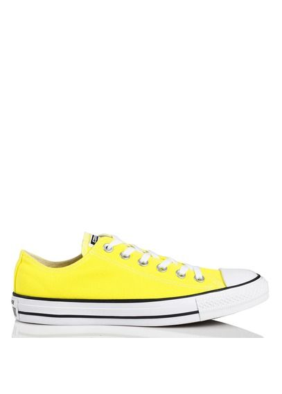Chuck Taylor All Star basses en toile Jaune by CONVERSE ...