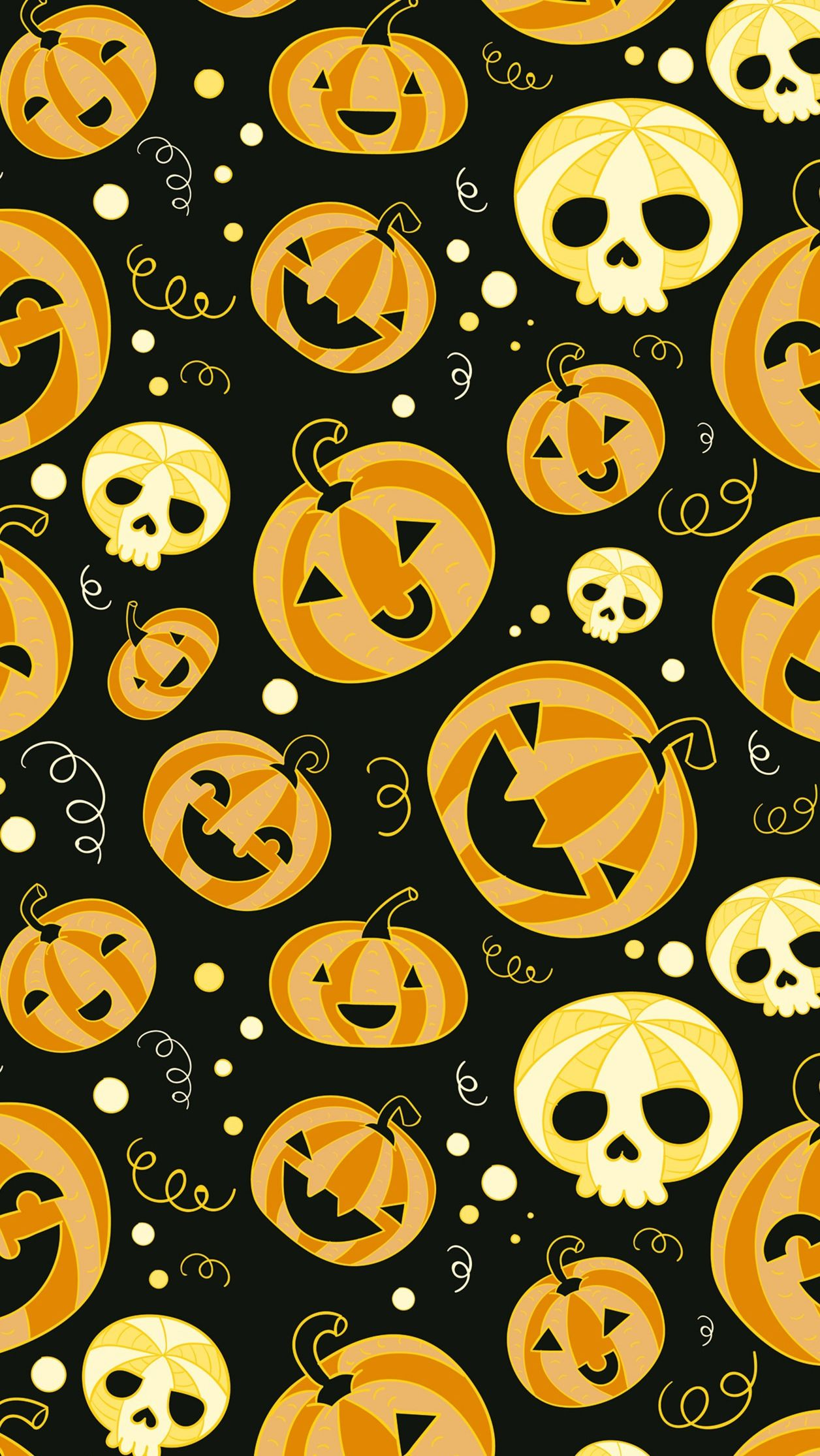 Halloween Funny Pumpkins Iphone Wallpaper ハロウィン壁紙