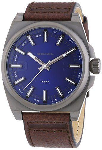 Diesel DZ1612 Mens Blue and Brown Leather Strap Watch