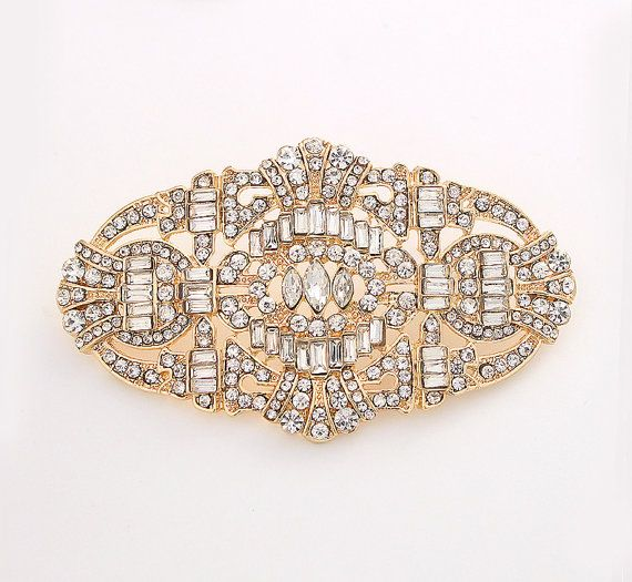 ART DECO GATSBY Necklace Embellishment CRYSTAL RHINESTONE