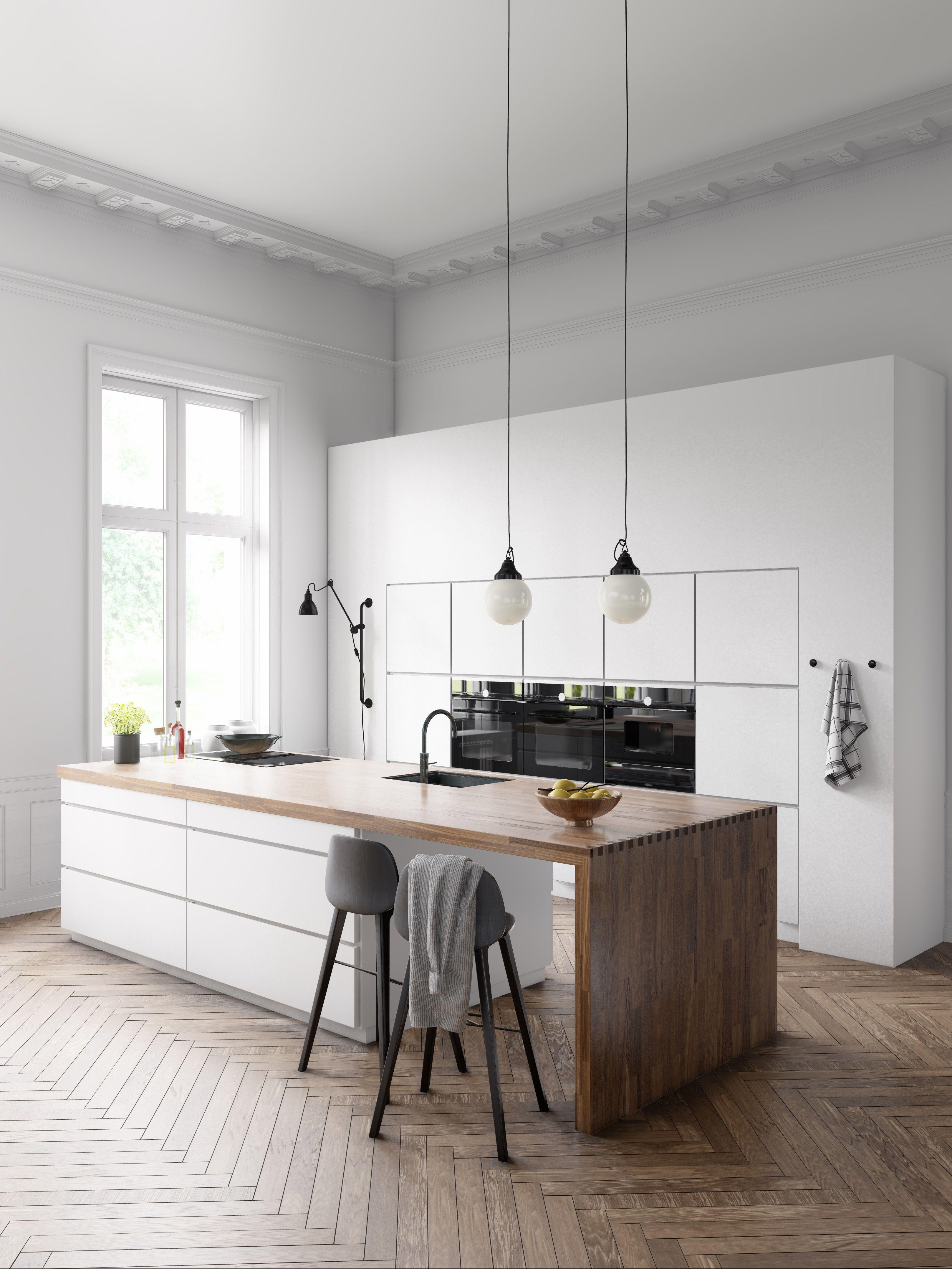 Scandinavian Kitchen White Mood Lumion Community In 2020 Kitchen Design Color Kitchen Tiles Design Classic White Kitchen