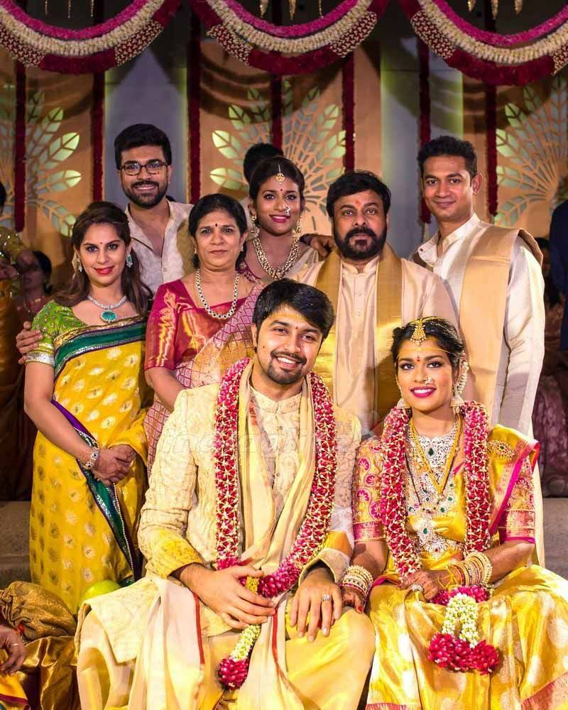 Telugu Megastar Chiranjeevi S Daughter Srija S Wedding Gallery Exclusive In 2020 Wedding Pics Indian Wedding Outfits South Indian Bride