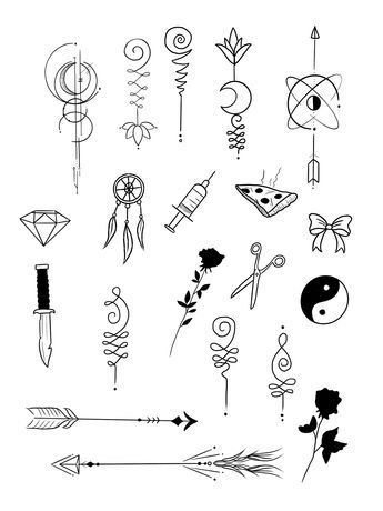 44 Cool Easy Whimsical Drawing Or Tattoos Ideas Sharpie Tattoos Small Tattoo Designs Doodle Tattoo
