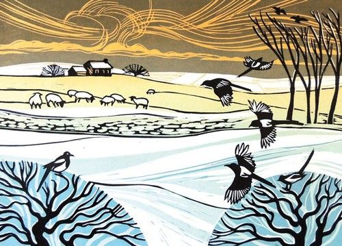 Magpies In The Snow - Rob Barnes