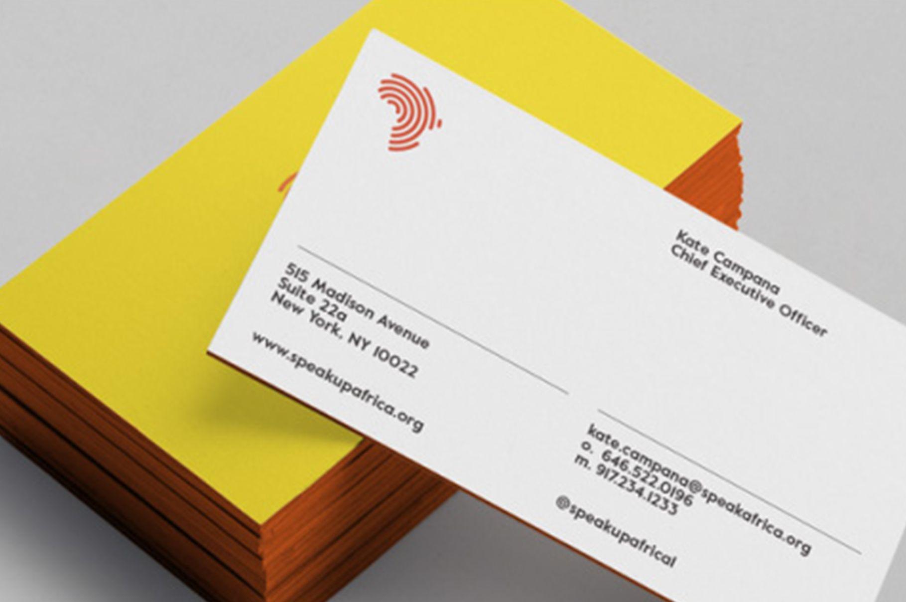 Inspiringbrands speak up africa inspiringbrands pinterest speak up africa edge painted business cards designed by dia colourmoves Choice Image