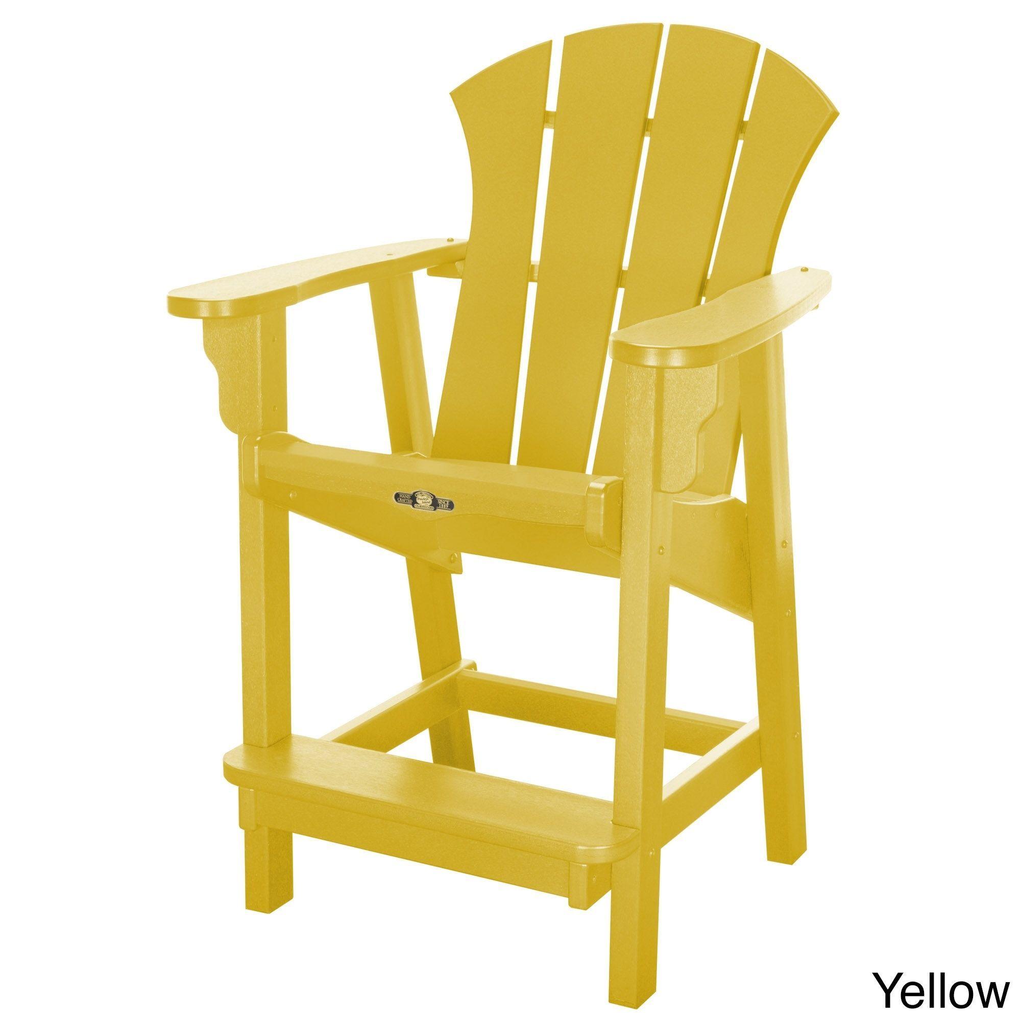 Pawleyus island sunrise durawood counterheight chair yellow