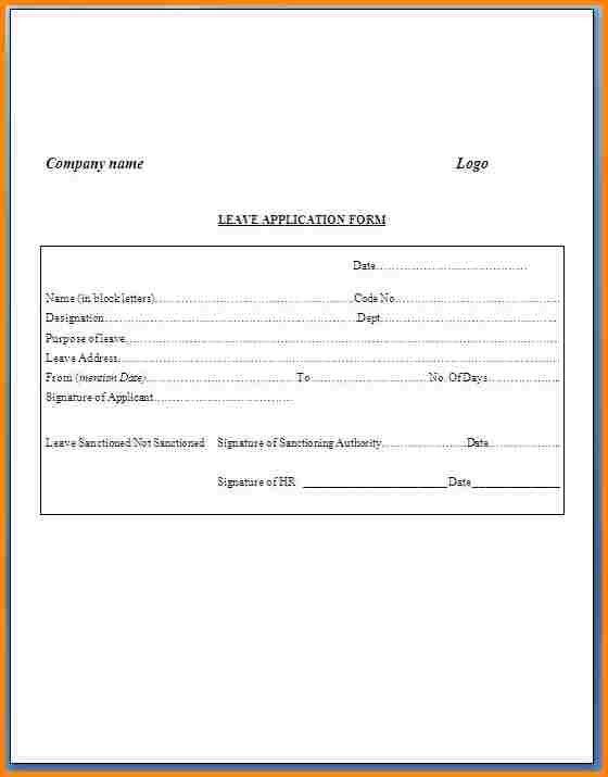 Job Leave Application Format Agenda Template Website Sample College Letter  Documents Pdf Word  Leave Application Template