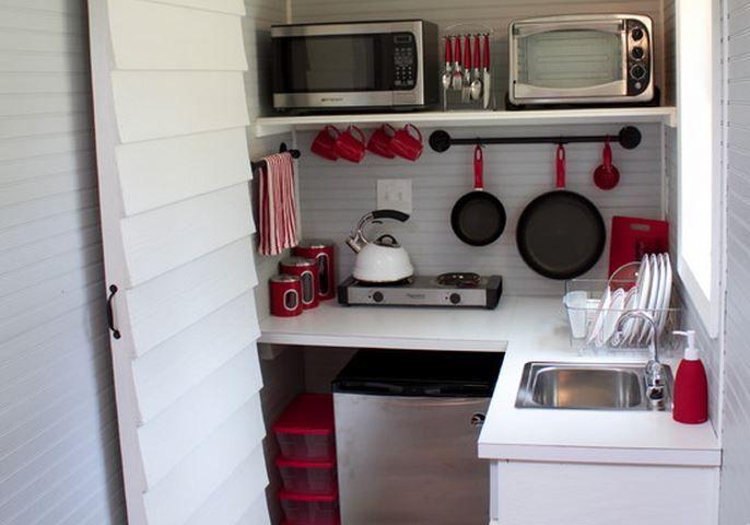 Decoration D Une Petite Cuisine #10: Une Très Petite Cuisine: En Camping Ou En Studio, Cette Mini-cuisine Est