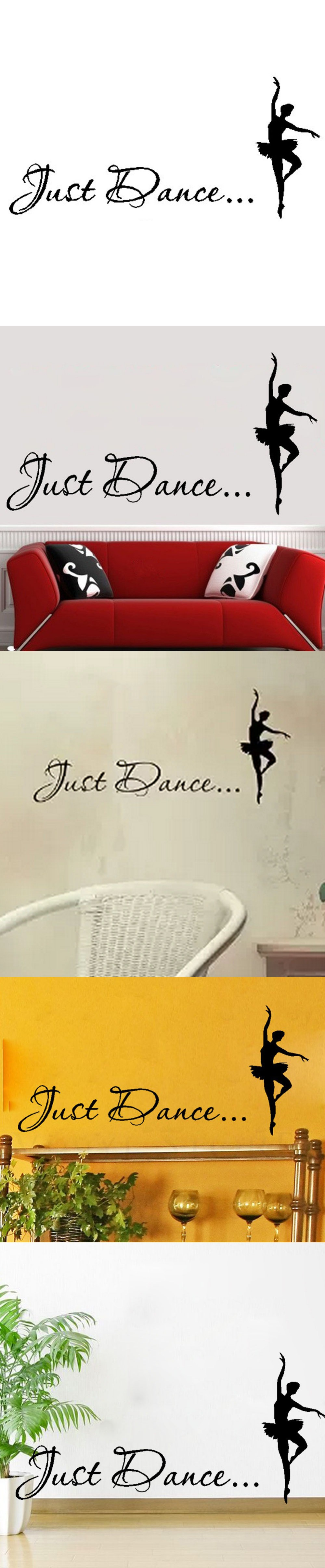 Just dance elegant ballet dancer vinyl wall art inspirational quotes