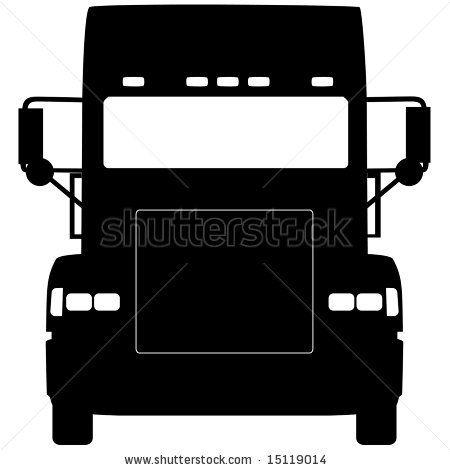 truck front silhouette | Tshirt designs | Pinterest | Silhouette ...