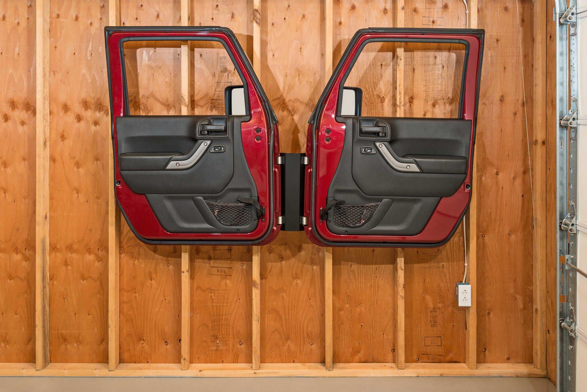 Door Storage Hanger For 76 20 Jeep Wrangler Jl Jk Tj Yj Cj 7 Jeep Doors Door Storage Jeep