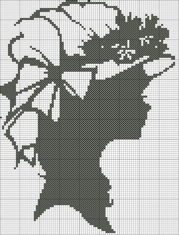 Вышивка крестиком схемы для вышивки монохром 88