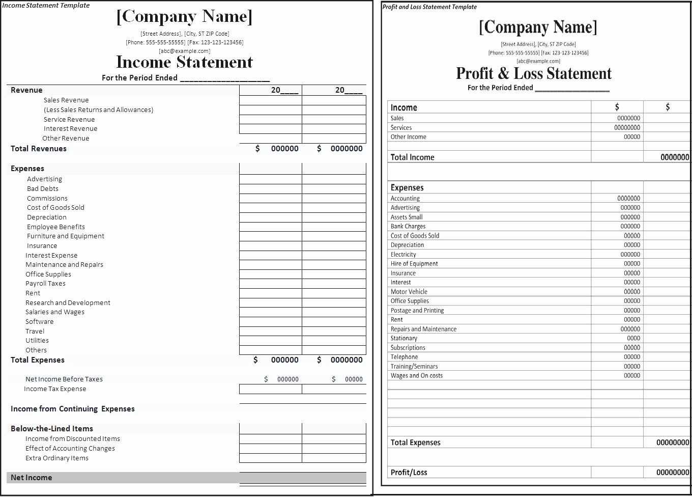 Blank Income Statement Template Best Of Blank Profit And Loss Statement Mughals Statement Template Income Statement Template Mission Statement Template