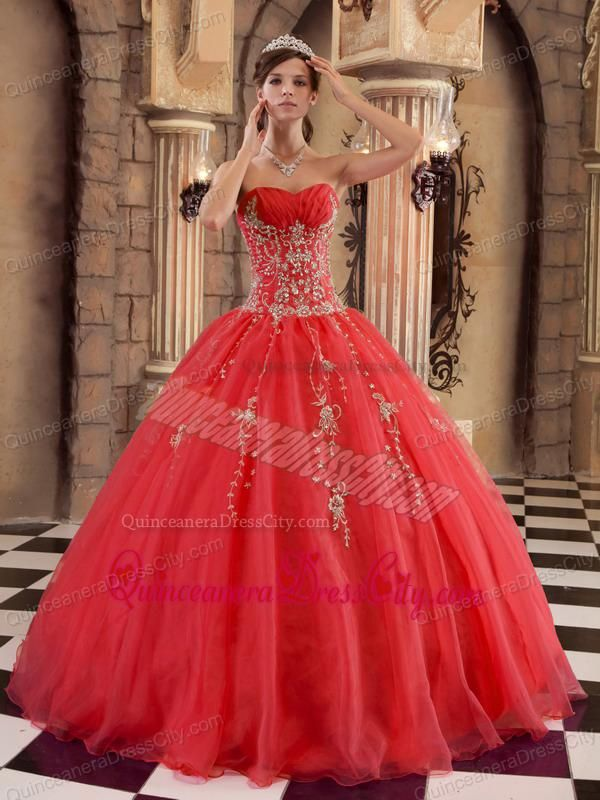 Red Ball Gown Prom Dresses - Ocodea.com