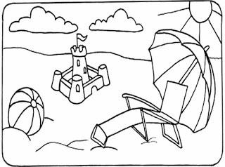 تعليم الرسم للاطفال رسومات اطفال سهلة للتلوين Beach Coloring Pages Summer Coloring Pages Coloring Pages Winter