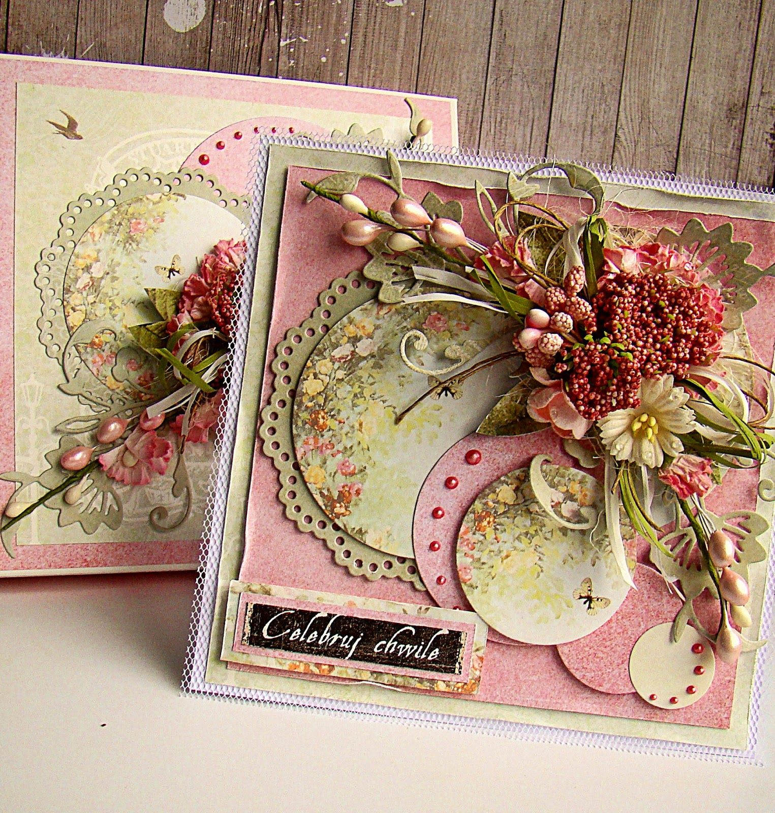 Скрапбукинг открытки подруге