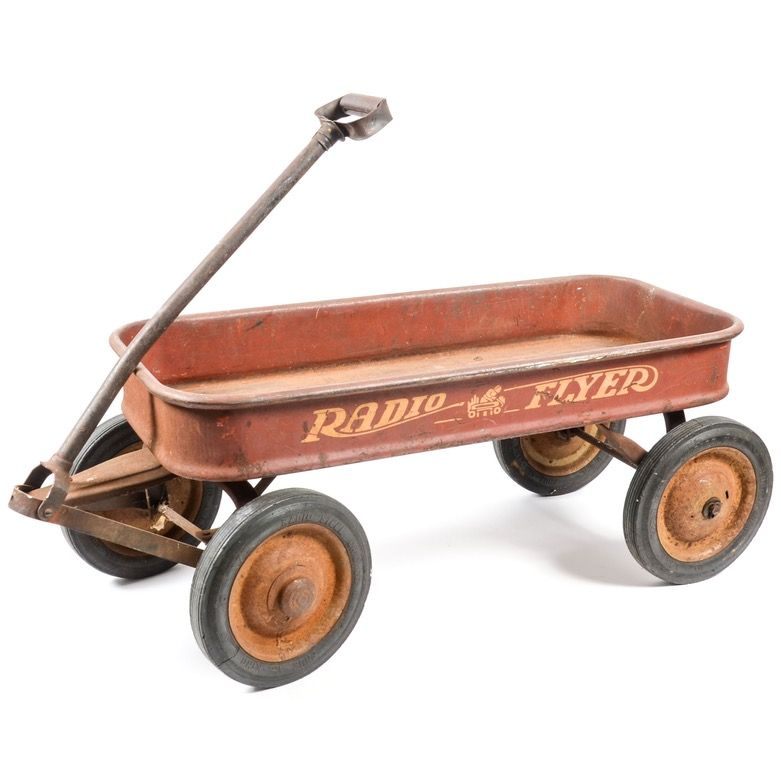 Vintage Radio Flyer Wagon Radio Flyer Wagons Antique Wagon Vintage Radio