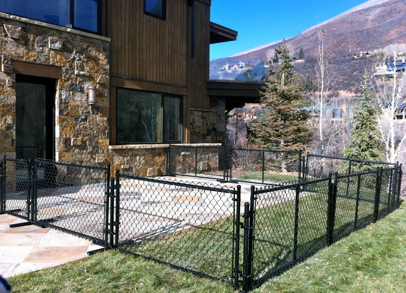 I Like This Black Chain Link Fencing And How It Covers Only A