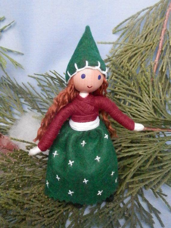 Miniature Christmas Elf Girl Bendy Doll by WildflowerInnocence