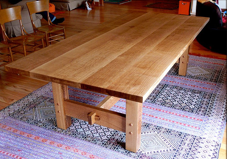 Hand Made Custom Built White Oak Dining Table By Nick
