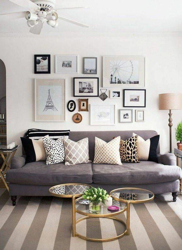 Déco salon gris - 88 super idées pleines de charme Apartment