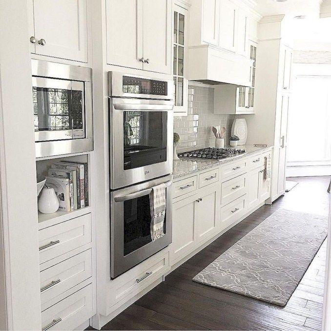46 Luxury White Kitchen Design Ideas To Get Elegant Look - HOOMDESIGN