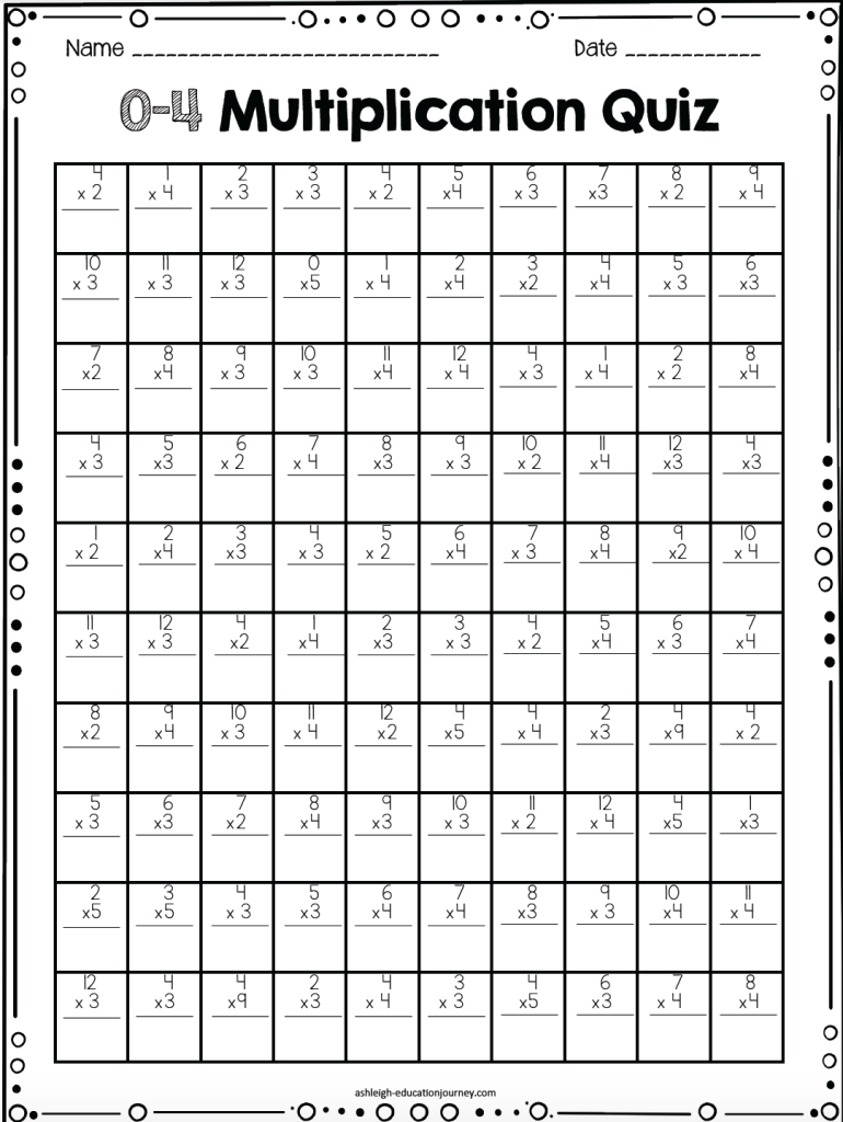 Multiplication Facts for Upper Elementary Students | Math ...