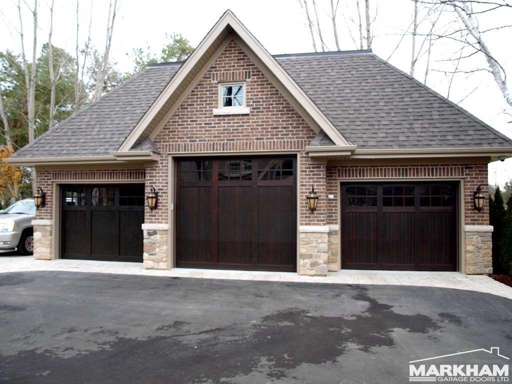 Dark Mahogany Garage Doors Home Exteriors Garage Doors