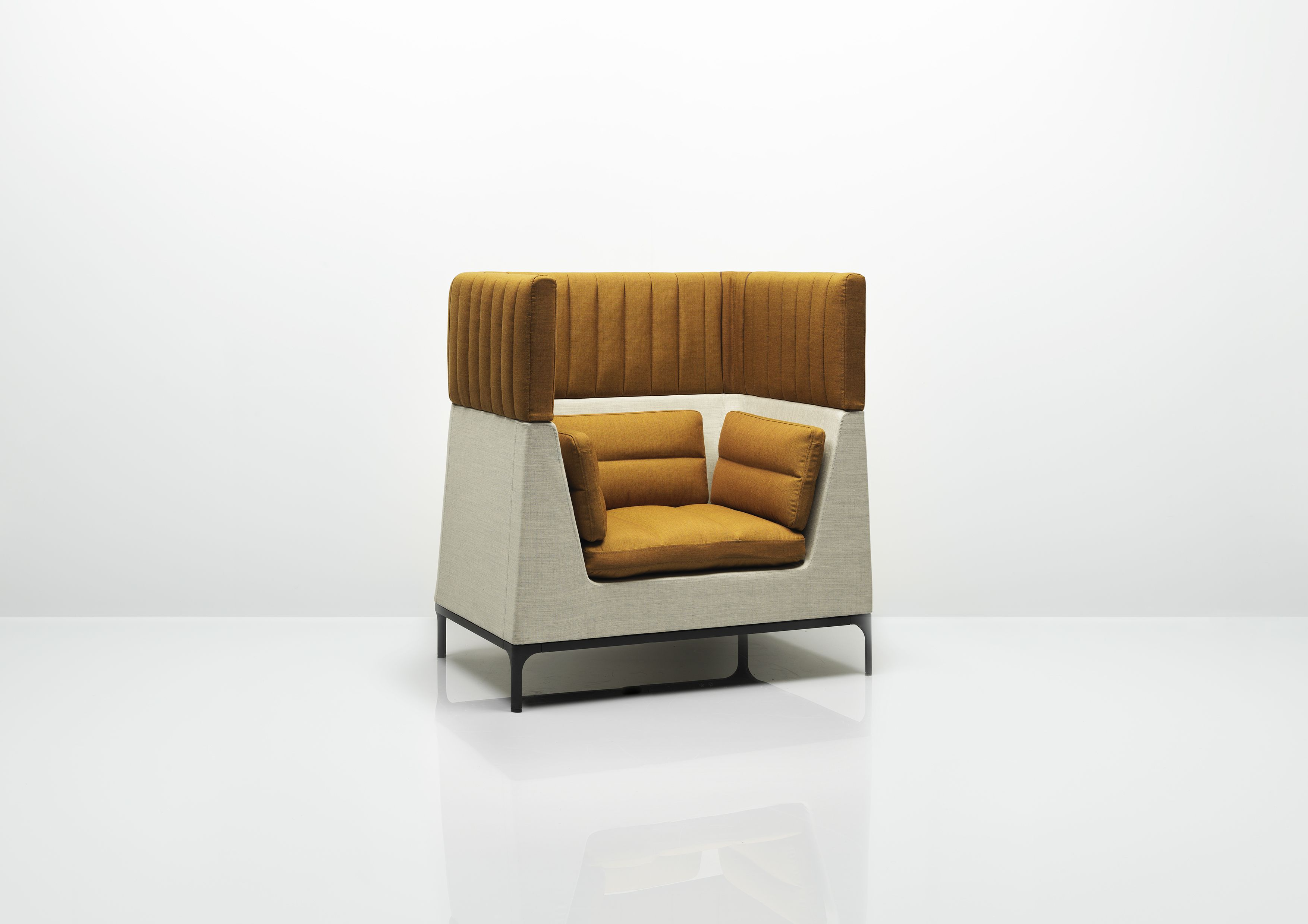 Single Seat Armchair With Headrest Designed By Mark Gabbertas, Haven  Creates Personal Privacy Within A