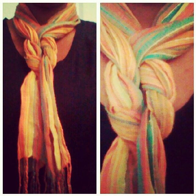 How to Wear a Scarf around Your Neck   personal style   how to tie a scarf   discount thief   affordable ...