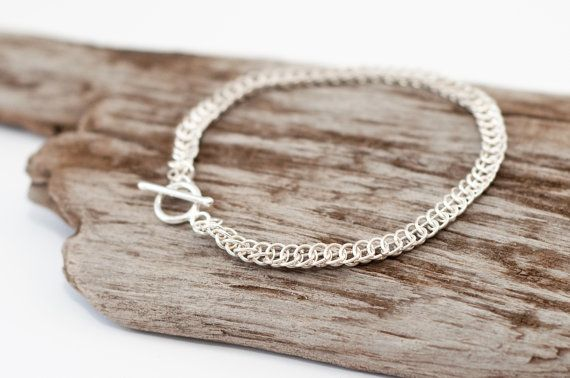 Sterling SILVER Half Persian Chainmaille by BuchananFamilyArts