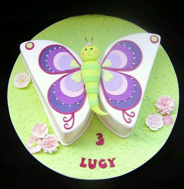 Butterfly Cake Using Round Pans