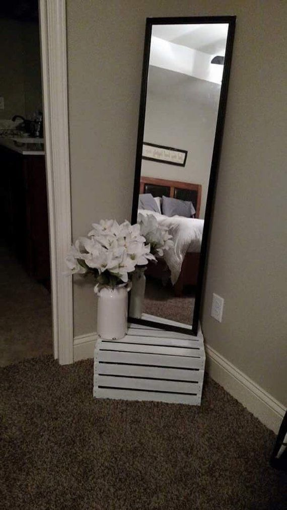 Wood crate nightstand, country style, white washed, end tables, College dorm room end tables images