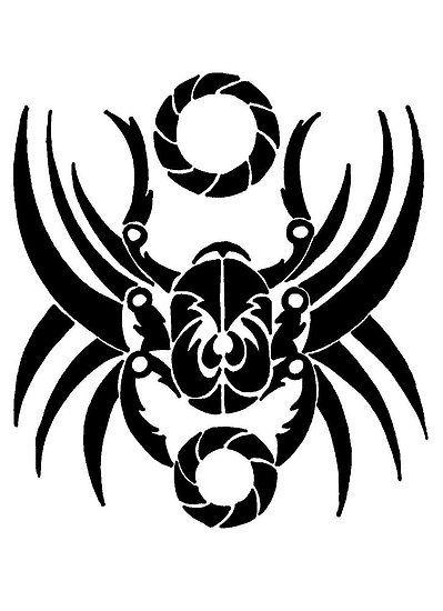 Scarab Tattoo Redqueenself Portfolio Tribal Scarab Symbolic