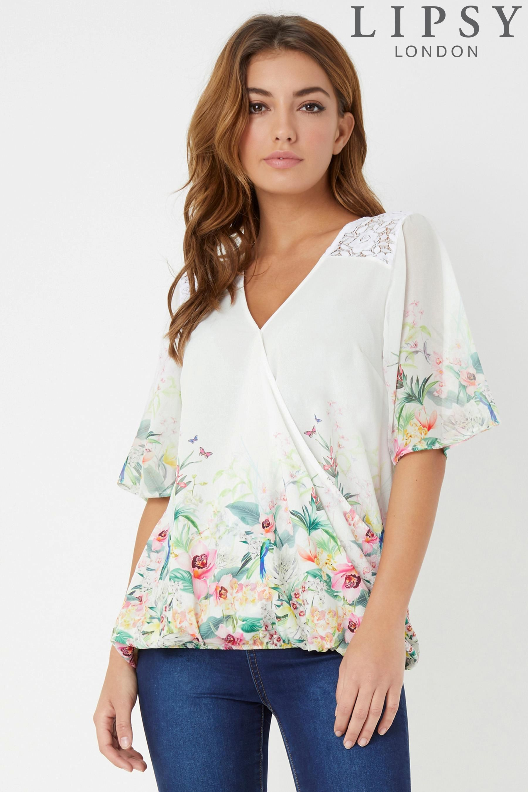 5036ade74f1977 Buy Lipsy Kimono Sleeve Wrap Top from the Next UK online shop ...