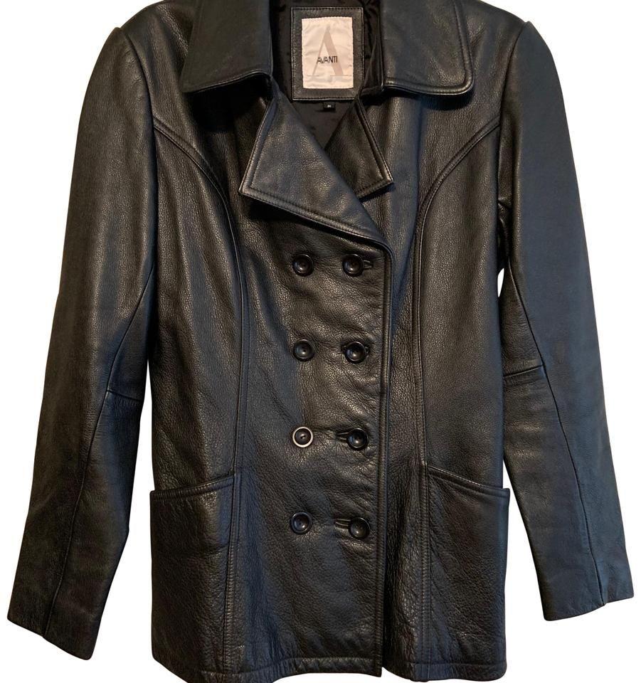 Avanti Black 11144 Jacket Size 4 S Jackets Double Breasted Jacket Leather Jacket [ 960 x 901 Pixel ]