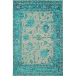 Photo of alfombra plana tejida benuta Frencie turquesa 240×340 cm – alfombra vintage en aspecto usado benuta