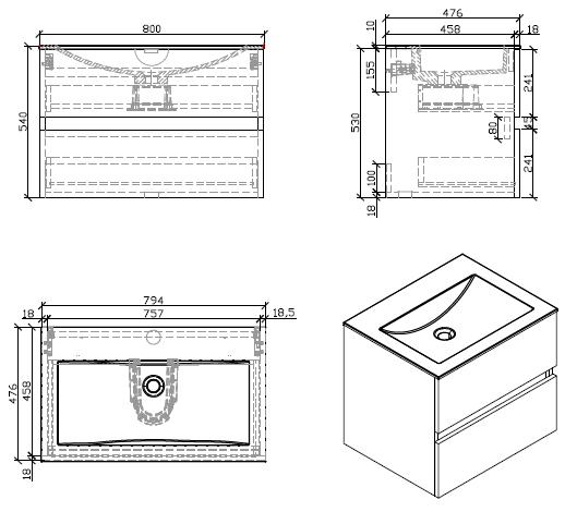 Meuble Salle De Bain Design Simple Vasque Siena Largeur 80 Cm Chene Clair Salle De Bain Design Meuble Salle De Bain Salle De Bain