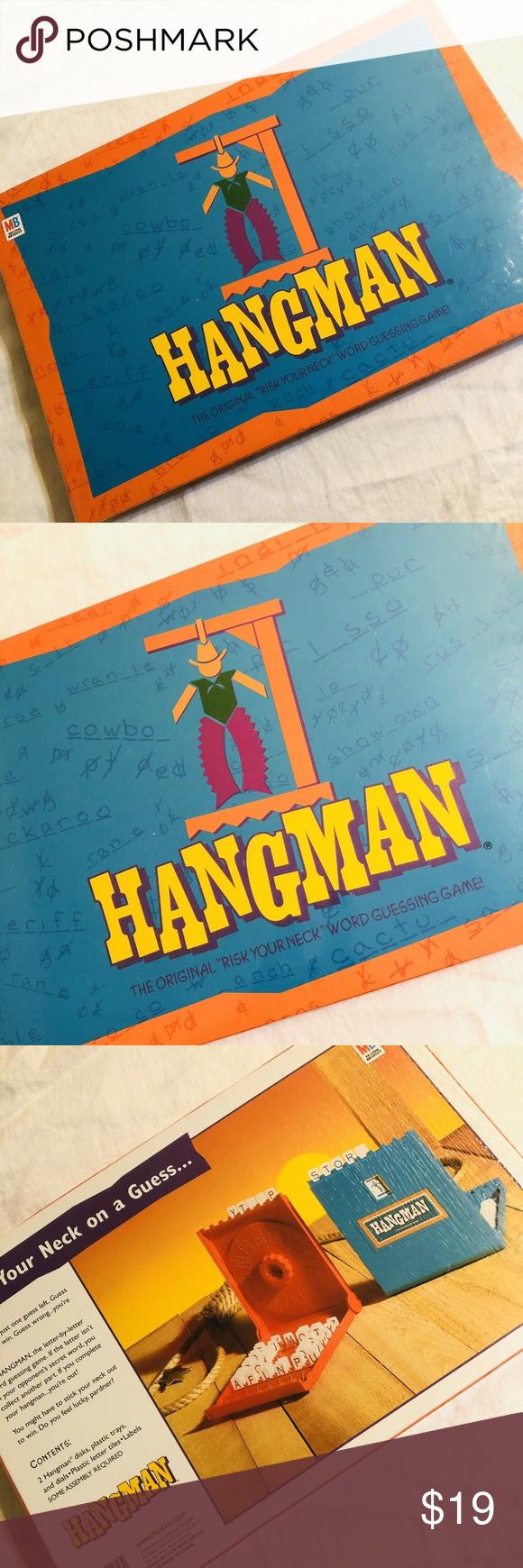 1999 Vintage HANGMAN Board Game MB Milton Bradley Vintage