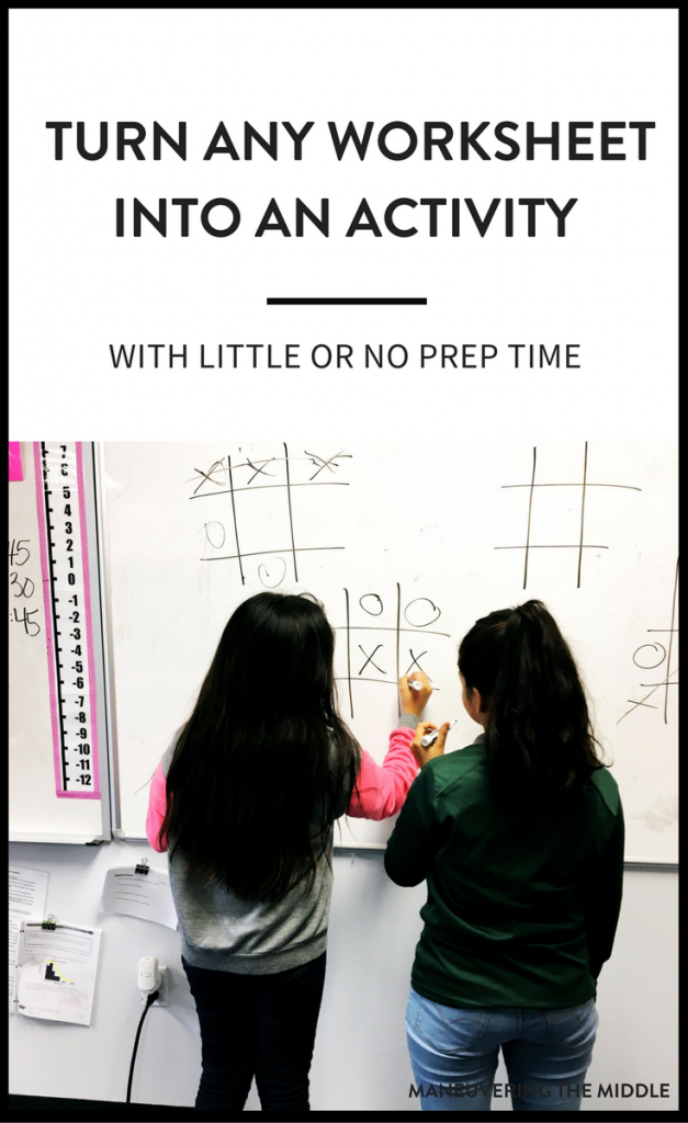Turn Any Worksheet into an Activity | Hojas de cálculo y Ideas