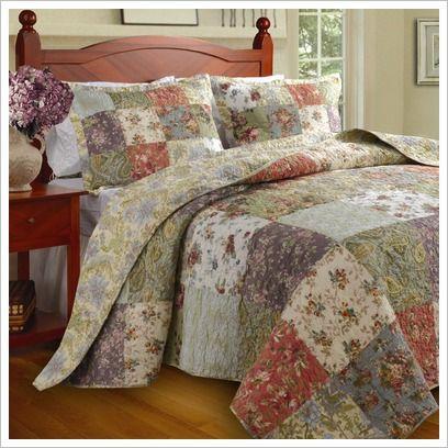 Blooming Prairie Bedspread Set Greenland Home Fashions