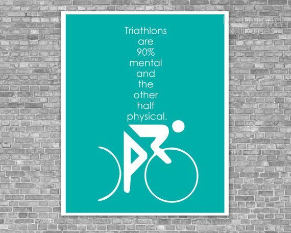 #hairbrainedschemes #turquoise #triathlon #athlete #fitness #digital #poster #mental #print #quote #...