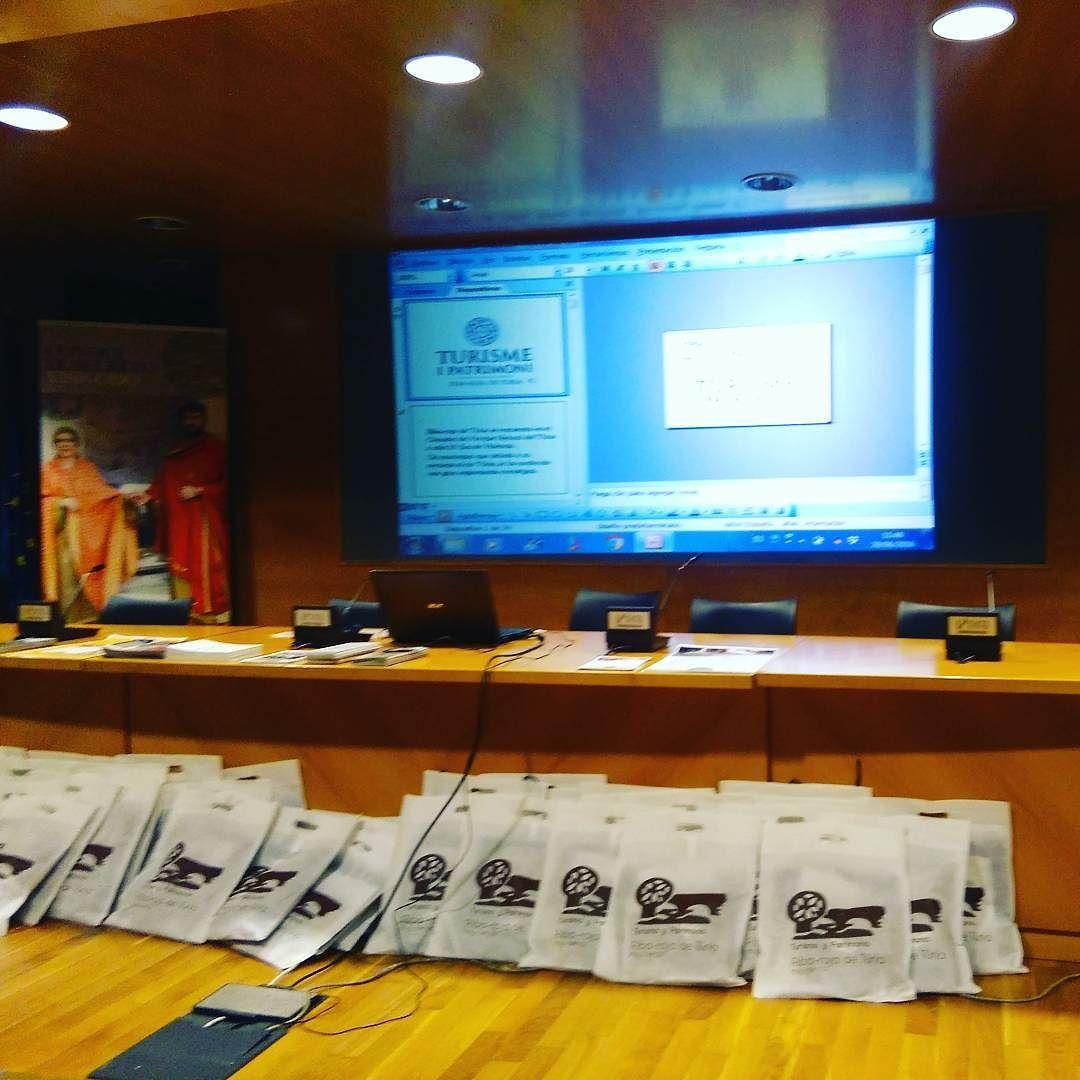 Ya esta todo preparado para la presentación del Secreto Visigodo en el Centro de Turismo de Valencia #culturavisigoda #menuvisigodo #turismo #patrimonio